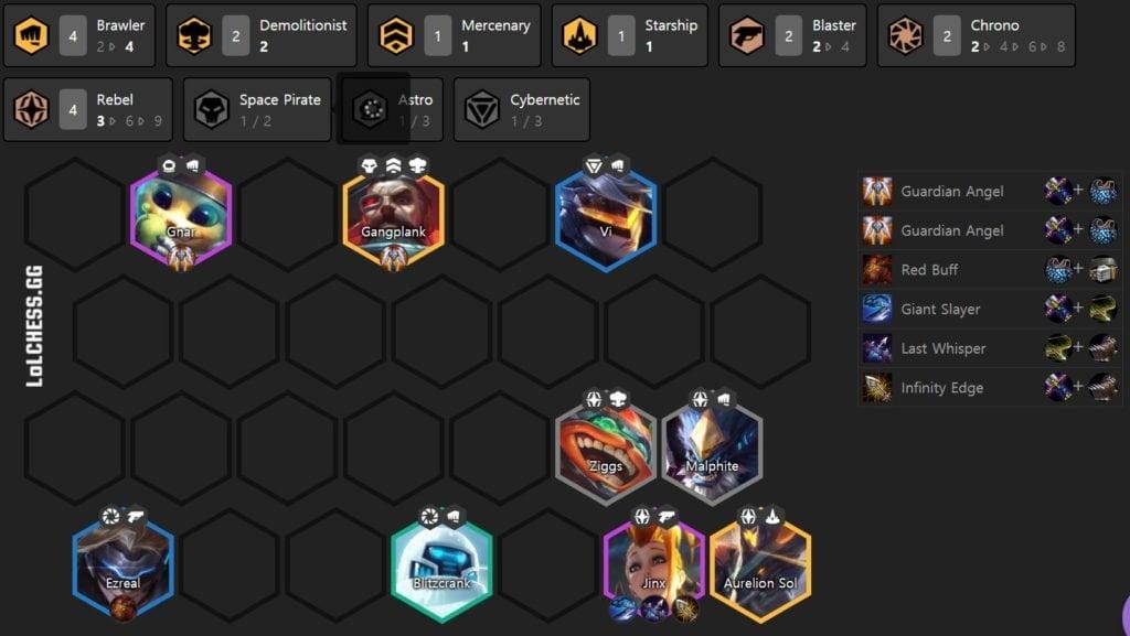 patch 10.15 Blaster Brawler TFT Tier List